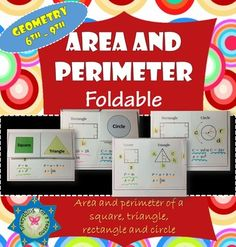 Area And Perimeter Of A Circle Square Rectangle TriangleDouble Sided Option To Print Out ColorNote Please Make Sure Printer Settings Are Flip On