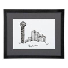 Reunion Tower, Dallas Framed City Print on Chairish.com