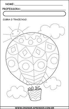 Airballoon tracing lines Tracing Worksheets, Preschool Worksheets, Kindergarten Activities, Pre Writing, Writing Skills, Childhood Education, Kids Education, Motor Activities, Activities For Kids