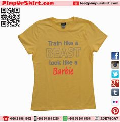 Train like a beast look like a Barbie  Design Custom T-Shirts & Gifts with Creativity Shout in Jeddah. Visit Jeddah Store in Faysaliyah for Great Offers. Call +96626981962, visit www.pimpurshirt. Follow @Pimpurshirt Tee #train #like a #beast #look #looklike a #barbie #tagsforlikes #shirtoftheday #photooftheday #jeddah #fashionista #custom #tshirt #tee #luxury #love #fitness #swag #cool #workout #jeddah #saudi #arabia #saudiarabia #ksa #apparel #clothing #delivery #fashion #pimpurshirt