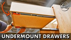 Learn how to build easy DIY drawers using pocket holes and plywood! Also, learn how to install Blum Tandem undermount soft close drawer slides. Pocket Hole Jig, Pocket Hole Screws, Inset Cabinets, Kitchen Cabinets, Soft Close Drawer Slides, Drill Guide, Diy Drawers, Butcher Block Countertops, Impact Driver