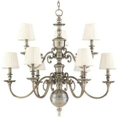 "Hudson Valley Lighting HUD1749OB Charleston - Old Bronze  Height-35""  Width-36-1/4""  Overall Height	92""  $3200"