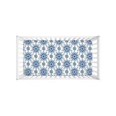Classic Blue Baby Crib Sheet Henna Star Nursery Decor