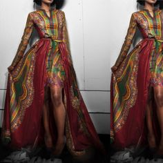 Custom Order African Gown Maxi Dresses  by ChristalinePrints