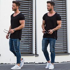 Casual urban outfits, jean court, fashion men, fashion tips, fashion outf. Mode Masculine, Mode Streetwear, Streetwear Fashion, Streetwear Clothing, Urban Outfits, Casual Outfits, Fresh Outfits, Look Man, Cooler Look