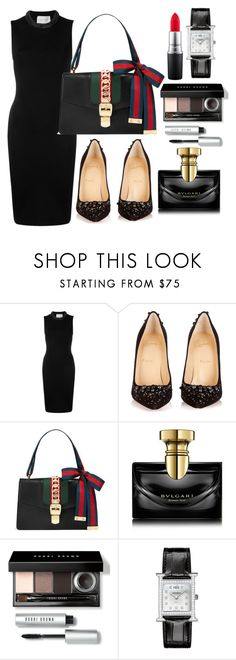 """""""Untitled #430"""" by ngkhhuynstyle ❤ liked on Polyvore featuring Christopher Kane, Christian Louboutin, Gucci, Bulgari, Bobbi Brown Cosmetics, Hermès and MAC Cosmetics"""