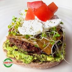 Black Bean Burgers with Basil and Feta Avocado Spread - this is the ULTIMATE healthy veggie burger! 175 calories and 9g protein PER burger!