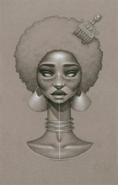 love beauty art vintage passion african american black women black art Goddess native afro natural hair twist out Cleopatra black love paintings braid out african art afrocentrism Sarah Golish Mais Black Art, Black Girl Art, Black Women Art, Art Women, Art Afro Au Naturel, Art Sketches, Art Drawings, Sketch Drawing, Art Amour