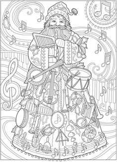 Willkommen bei Dover Publications – Coloring Pages >> Dover - Malvorlagen Mandala Space Coloring Pages, Coloring Pages Winter, Santa Coloring Pages, Mandala Coloring Pages, Coloring Pages To Print, Coloring Pages For Kids, Coloring Books, Christmas Coloring Sheets, Colorful Drawings