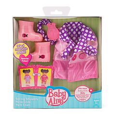 "Baby Alive Reversible Outfit - Spring Showers Rain Coat - Funrise - Toys ""R"" Us"