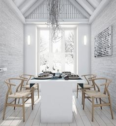 A whitewashed exposed brick wall will leave your space feeling rustic.