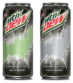 Special 16 oz Mountain Dew cans arriving with the Dark Knight promotion