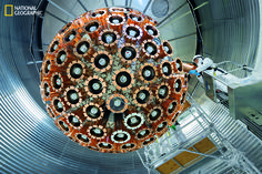 First to capture dark matter on Earth? DEAP-3600, maybe the most sensitive dark matter detector yet, was installed last year more than a mile underground in a nickel mine in Ontario. Its spherical array of light sensors points inward, toward a core full of liquid argon. The hope is that dark matter particles striking argon atoms will trigger tiny flashes of light.<br />