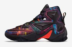 You'll be able to pick up the Nike LeBron 13 Akronite Philosophy on November 21st for $200. Description from kicksonfire.com. I searched for this on bing.com/images