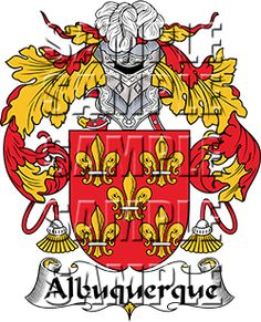 Albuquerque Family Crest apparel, Albuquerque Coat of Arms gifts