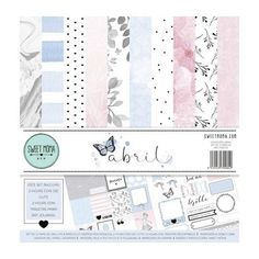 Kits papeles Abril de Sweet Möma Moma, Kit, Office Supplies, Bullet Journal, Scrapbook, Paper, Paper Envelopes, Cards, Blue Prints