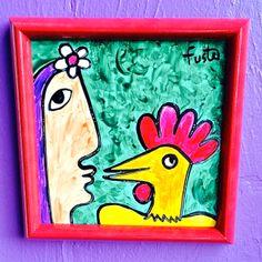 Jose Fuster Cuban Original Painting on tile 2013  ❥