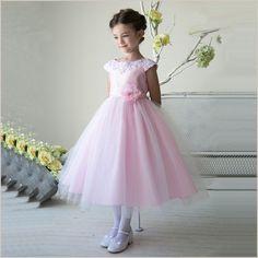 Thalia Flower Girl Dress in Pink | Demigella