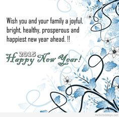 2015 Happy New Year messages