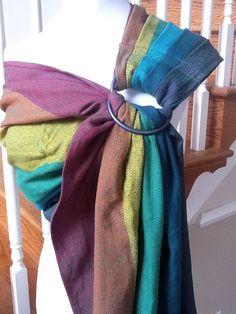 Girasol Wrap Ring Sling Conversion Dark Rainbow by AnnaCarrieBaby, via Etsy.