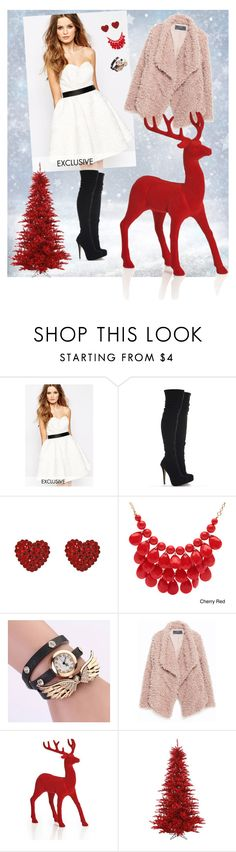 """""""Merry Christmas"""" by dresses-of-findress ❤ liked on Polyvore featuring Fame & Partners, Tarina Tarantino, Alexa Starr, Zara, Christmas, dress, newyear and findress"""