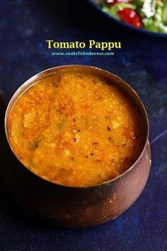 Tomato pappu recipe- learn how to make healthy tasty and wholesome andhra style tomato dal with this easy video recipe. Tomato dal is best served with rice. Andhra Recipes, Paneer Recipes, North Indian Vegetarian Recipes, Vegetarian Cooking, Indian Food Recipes, Cooking Recipes, Sambhar Recipe, Vegetarian, Kitchens