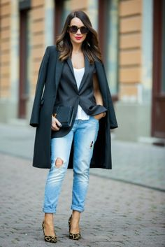blazer and coat layering...
