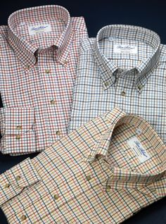Tattersall Check Brushed Cotton Button Downs