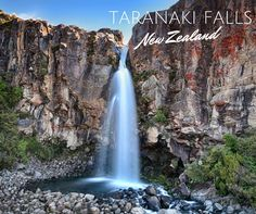 Taranaki Falls, this is one of New Zealand's true natural treasures, and a must-see. Taranaki Falls, located in Tongariro National Park, offers vantage points of Mr. Ngaurhoe, Mt. Ruapehu and Mt. Tongariro. Take a walk through a lovely beech forest and enjoy this prime photo opportunity!