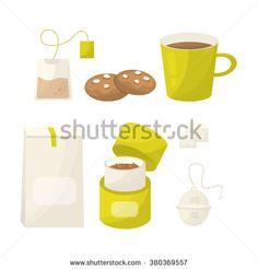 Tea set, Tea ceremony vector concept illustration, Tea set vector - stock vector