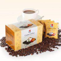 DXN Cream Coffee   a legjobb minőségű instant kávéból és ganoderma kivonatból készül. Nem tartalmaz cukrot, azonban tejport igen, amely lágy, selymes ízt kölcsönöz. Azok számára is ideális, akiknek a cukorbevitelre vigyázniuk kell.  1 adag kávé kb. 70 Ft/adag (A hazai fogyasztói visszajelzések alapján a használt adagolásból számítva)