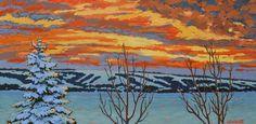 Sharron Labatt - Fleeting Light on a Snowy Evening 15 x acrylic/canvas Sarah James, Art Competitions, Canadian Art, Acrylic Canvas, Public Art, Gallery, Artist, Artwork, Painting