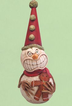 Chicken Lips - Halloween Gallery - Whimsical Folk Art Characters for All Seasons by Artist David H. Everett