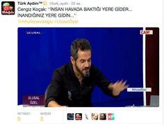 Türk Aydını™⭐️ @turk_aydn  Cengiz Koçak: ''İNSAN HAVADA BAKTIĞI YERE GİDER...  İNANDIĞINIZ YERE GİDİN...'' @mhulkicevizoglu #UlusalÖzel