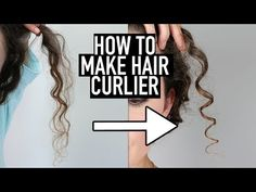 10 Tips for how to make hair curlier naturally, and make curls tighter and more defined. I explain when to get a trim, how to use Olaplex No. how to remove buildup, how to use the Denman brush, dif Make Hair Curly, Curly Hair Tips, Curly Hair Care, How To Make Hair, Curly Hair Styles, Natural Hair Styles, Tips For Curling Hair, Wavy Hair, Curly Hair Brush