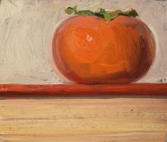 """""""Persimmon on a Book, 11/26/2015"""" by Duane Keiser"""