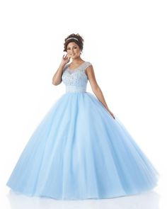 091a6f8c2a3 Beaded Sheer Scoop Quinceanera Dresses Illusion Sleeveless Zipper Ball Gowns  Sky Blue Tulle Floor Length Party