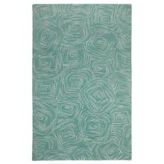 Paint The Town Lake Swirling Blue Area Rug - Company C