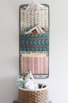 Sewing Tutorials Free Free Tutorial: Fabric Wall Organizer - The Quilt Show with Alex Anderson and Ricky Tims Wall Pocket Organizer, Hanging Organizer, Fabric Organizer, Letter Organizer, Sewing Room Decor, Sewing Room Organization, Organization Ideas, Vide Poche Design, Sewing Tutorials