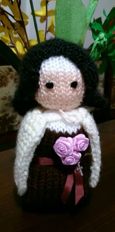 Loom knitting: st. Therese from Lisieux