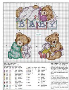 Schema punto croce Baby Is Love 7