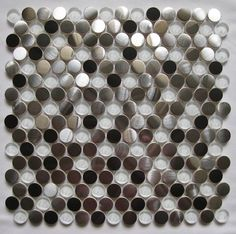 Penny round Stainless steel tiles series - contemporary - kitchen tile - other metro - MEITIAN MOSAIC CO.,LTD