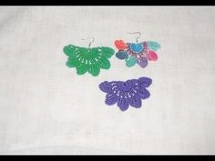 Crochê Brinco Marry - Crochet earring - Pendiente de ganchillo