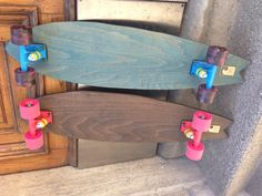 Sweet cruiser boards with penny trucks.