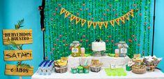 Cumpleaños infantil, organización de cumpleaños y fiestas temáticas. Cumpleaños de la jungla. Candy bar temática. Organización eventos. Cumpleaños diferente