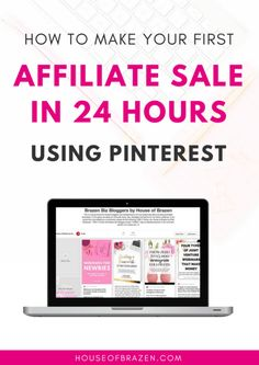 Want to learn how to make your first affiliate sale using Pinterest? This step by step guide will teach you exactly how! #afflink