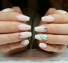 marble nails. ballerina Nails. nude pink nails.