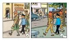 1950 vs 1971 version - Tintin in the Land of Black Gold