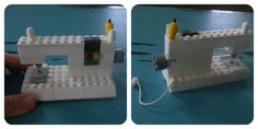 Step-by-step tutorial for building your own mini Lego sewing machine.  Fun idea to build with your kids.