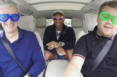 Watch Pharrell and Tim Cook Jam out With James Corden in 'Carpool Karaoke' | HypeBeast